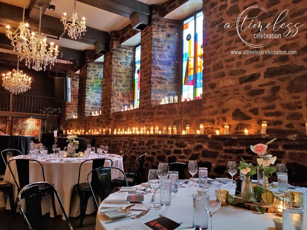 old montreal wedding venue auberge le saint gabriel rustic wedding florist
