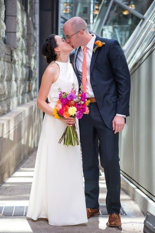 colorful bridal bouquet montreal