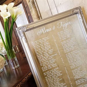 Mirror Seating Chart montreal wedding