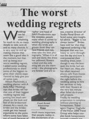 wedding planner featured in montreal newspaper