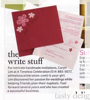 weddingbells wedding invitations magazine feature