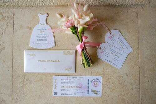 montreal destination wedding invitations bouquet mexico grand palladium costa mujeres cancun