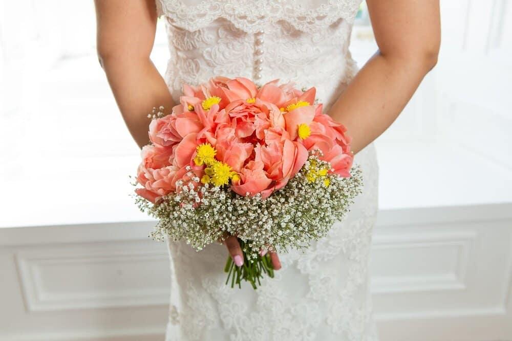 peach+wedding+flower+bouquet