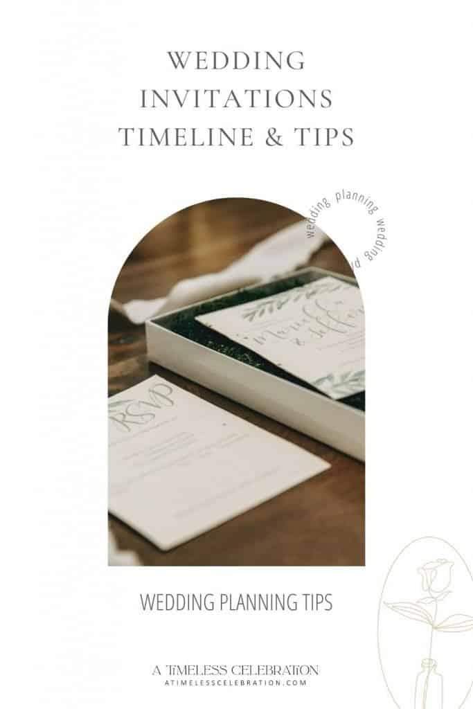 wedding invitations timeline tips