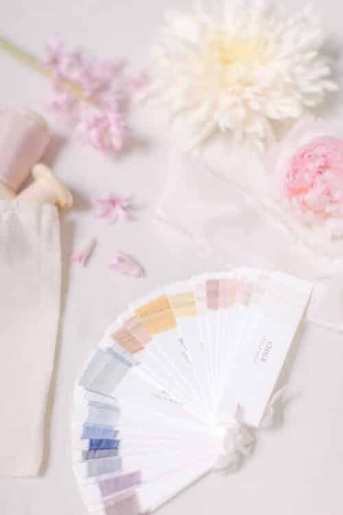 wedding+florist+silk+ribbon+swatches+and+flowers